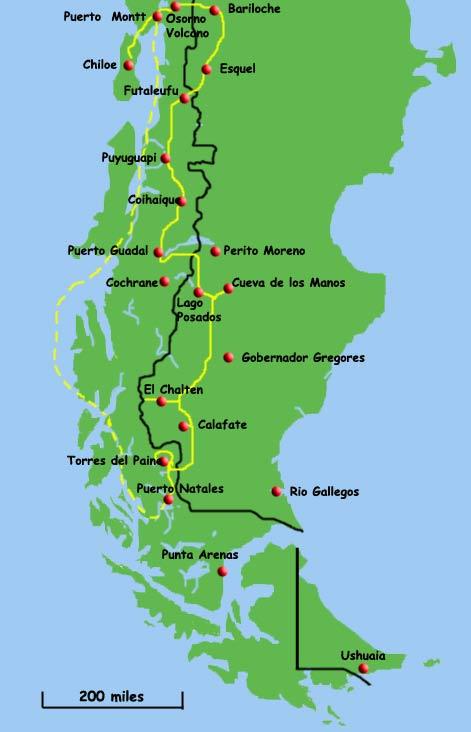 We spent time in El Calafate, El Chalten and Bariloche