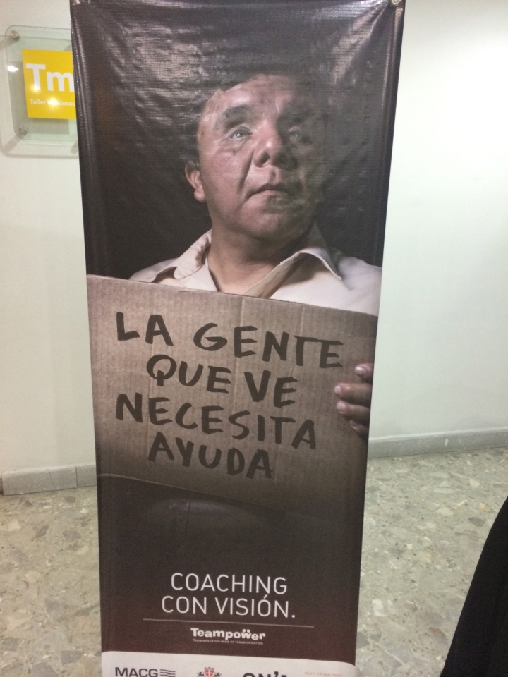 Ad campaign for ojos que sienten. Translation: Seeing people need help